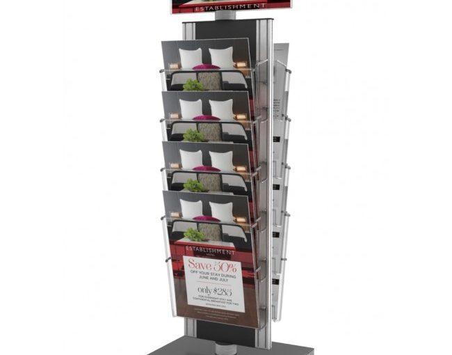 Tania forma reklamy – plastikowe stojaki na ulotki